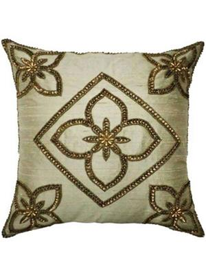 QUILT INDIA  go2  Golden  Printed  Cushion Cover