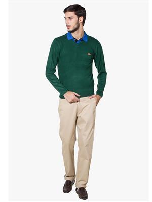 Lee Marc  Green Formal Men Sweater