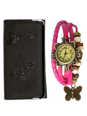 Mango people hob-cas-32 Multicolored Women Vintage watch with Clutch