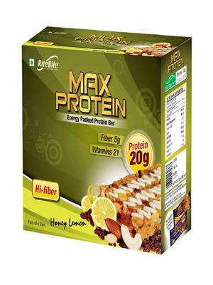 RiteBite Max Protein Honey Lemon 6 piece pack