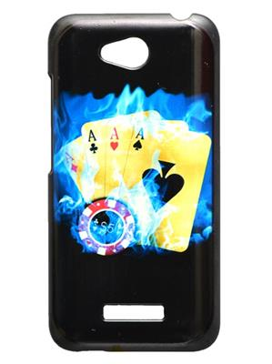Fashion Case FC46  Black  Print HTC 616  Mobile Case Cover