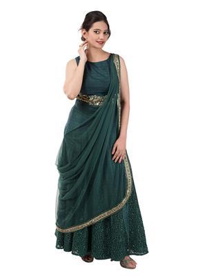 Iqra Exclusive 006 Green Women Gown