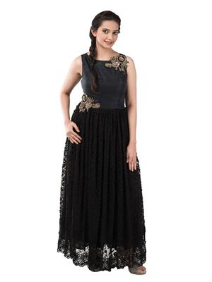 Iqra Exclusive 009 Black Women Gown