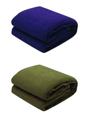 Jazz Jsingleset2Polar155 Multicolored Single Fleece Blanket (Buy 1 Get 1 Free)