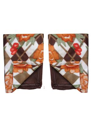Jazz Jsingleset2Polar160 Multicolored Single Fleece Blanket (Buy 1 Get 1 Free)