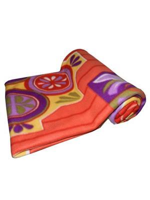Jazz Jsingleset2Polar286 Multicolored Single Fleece Blanket (Buy 1 Get 1 Free)