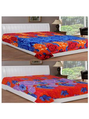 Jazz Jsingleset2Polar376 Multicolored Single Fleece Blanket (Buy 1 Get 1 Free)