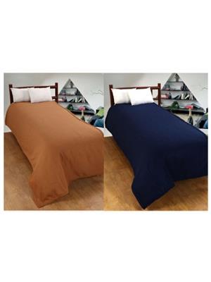 Jazz Jsingleset2Polar429 Multicolored Single Fleece Blanket (Buy 1 Get 1 Free)