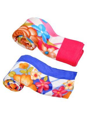 Jazz Jsingleset2Polar439 Multicolored Single Fleece Blanket (Buy 1 Get 1 Free)