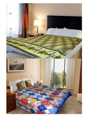 Jazz Jsingleset2Polar83 Multicolored Single Fleece Blanket (Buy 1 Get 1 Free)