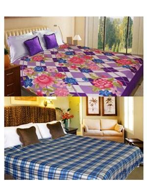 Jazz Jsingleset2Polar97 Multicolored Single Fleece Blanket (Buy 1 Get 1 Free)