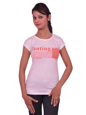 Jevaraz jvrz10011 White Women T Shirt