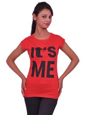 Jevaraz jvrz10013 Red Women T Shirt