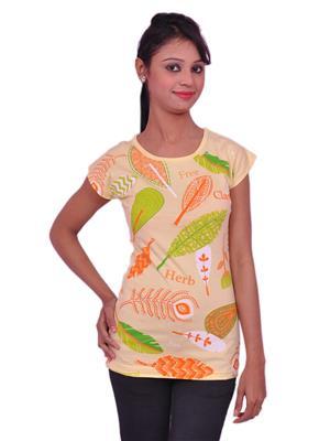 Jevaraz jvrz10019 Yellow Women T Shirt