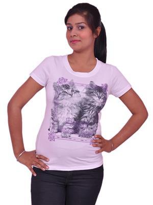 Jevaraz jvrz20014 White Women T Shirt