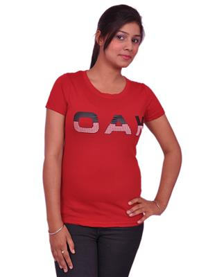 Jevaraz jvrz20015 Red Women T Shirt