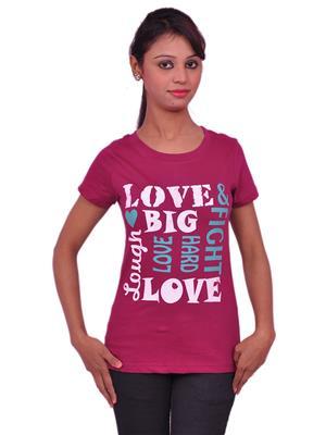 Jevaraz jvrz20018 Pink Women T Shirt