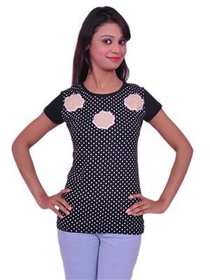 Jevaraz jvrz20111 Black Women T Shirt