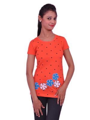 Jevaraz jvrz20112 Orange Women T Shirt