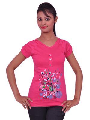 Jevaraz jvrz20113 Pink Women T Shirt