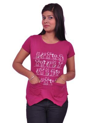 Jevaraz jvrz20116 Pink Women T Shirt