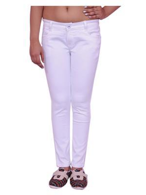 Jevaraz 8009 White Women Jeans