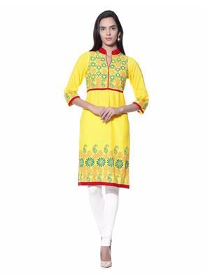 kamla 158 Yellow Women Kurti
