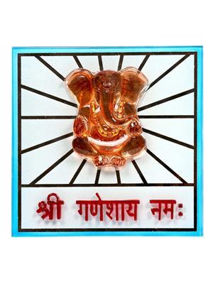 Kanch mall kanch _10  Multicolour Ganesha Idol