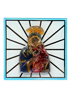 Kanch mall kanch _19  Multicolour Religious Mount Marry  Idol