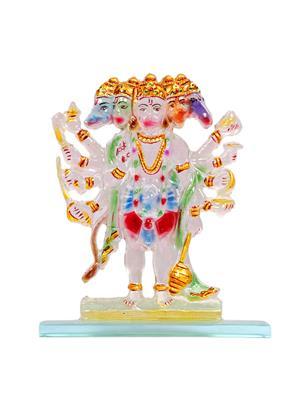 Kanch mall kanch _31  Multicolour Powerful Panchmukhi Hanuman Idol