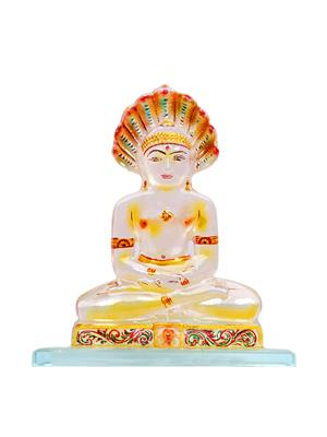Kanch mall kanch _32  Multicolour Serene Tirthankar Idol
