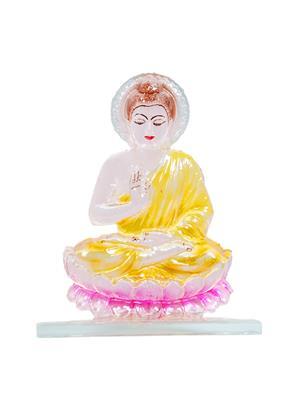 Kanch mall kanch _33  Multicolour Peaceful Gautam Buddha Idol
