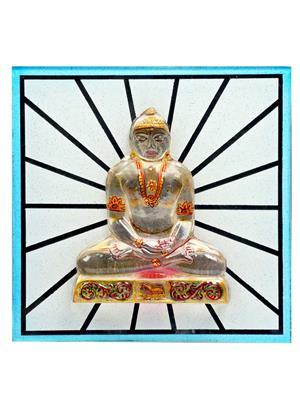 Kanch mall kanch _8  Multicolour Blissful Tirthankar Idol