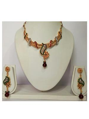 khetlazee kh1018 Golden Women Jewellery Set