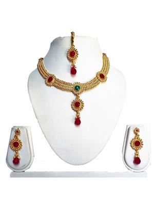 khetlazee kh1029 Golden Women Jewellery Set