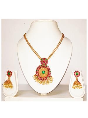 khetlazee kh1032 Golden Women Jewellery Set