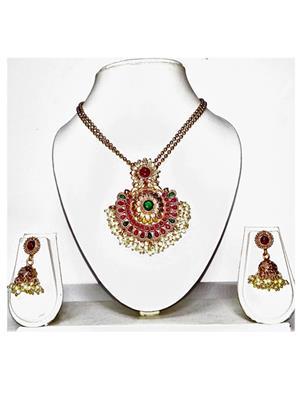 khetlazee kh1036 Golden Women Jewellery Set