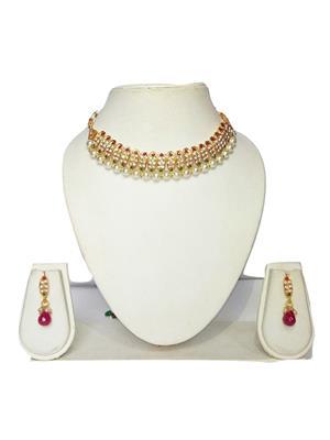 khetlazee kh2020 Golden Women Jewellery Set