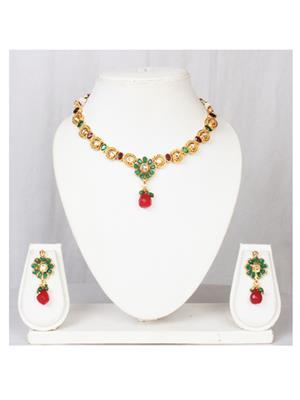 khetlazee kh2025 Golden Women Jewellery Set