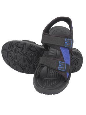 Indian Style Ks44 Black Unisex Sandals