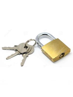 M M TRADERS l7 Brass Golden Small lock