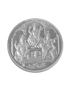 Love Bright Jewelry lakshmi-ganesh-sarawati-ag10  White Women Silver Coins