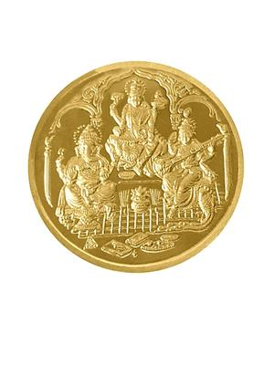 Love Bright Jewelry lakshmi-ganesh-sarawati-agvy10  Yellow Women Silver Coins