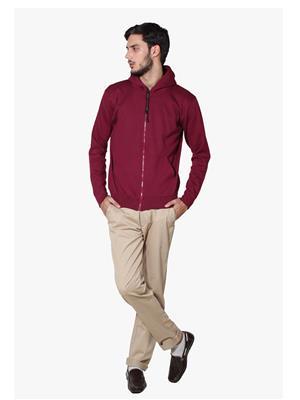 Lee Marc  Mahroon Formal Men Sweatshirts