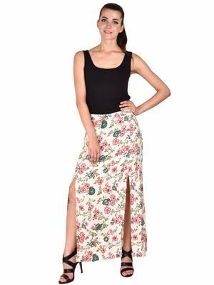 Ms Bottom Mb-Ctmxsk Off White Women Skirt