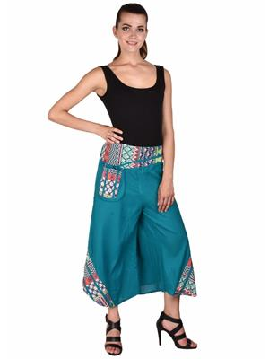 Ms Bottom Mb-Prnjkn Blue Women Palazzo