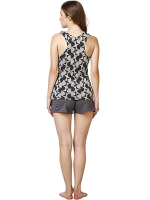 Rose Vanessa RS 055 Grey Print Shorts Set