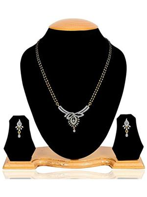 Penny Jewels Msad01 Golden Women Mangalsutra With Earrings Combo Pack