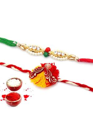 New Fancy Rakh n5 multicolor  men rakhi set of 2