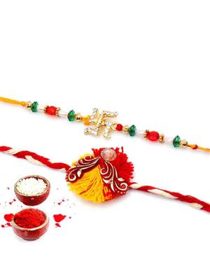 New Fancy Rakh n8  multicolor  men rakhi set of 2